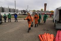 Выдвижение газоспасательного отделения для проведения развдеки